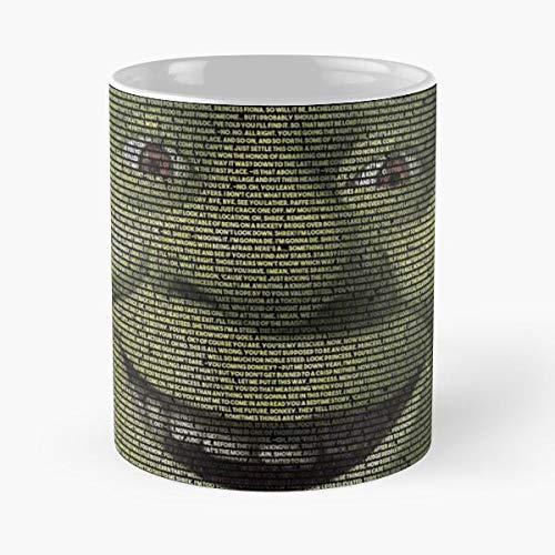 Nueva revisión lanzamiento Shrek película 2 cine 2018 mejor taza de café de cerámica de 11 oz
