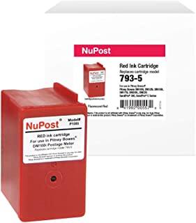 NuPost Brand Replacement Postage Meter Cartridge for Pitney Bowes 793-5   Red