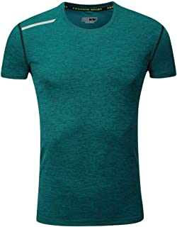 Men's Summer Casual O-Neck T-Shirt Fitness Sport Fast-Dry Breathable Tee Top Blouse