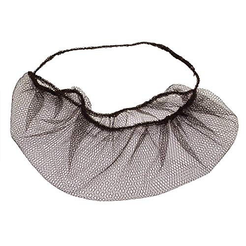 AMAZING Brown Beard Nets. Pack of 100 Disposable Nylon Protective Beard Covers with Single Loop. PPE Facial Hair Covering for Work in Fast Food Service, Kitchen. Breathable Unisex Beard Protectors.