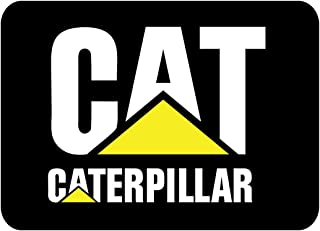 "Caterpillar CAT Logo 4"" to 14"" with Black Background Full Color Vinyl Decal Sticker"