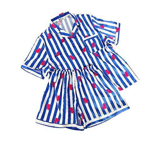 JLTPH Unisex Schlafanzug Sommer 2pcs Pyjama Set CHIMMY Cooky KOYA MANG RJ SHOOKY TATA Same Harajuku Cartoon Kurzarm Nachtwäsche Pajamas Nighty Bedgown
