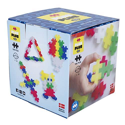 Plus-Plus 9603411 Kreativ-Bausteine, Big Neon Set, Geniales Konstruktionsspielzeug, 100 Teile