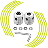 TOCYORIC Cabezal Desbrozadora Universal con Repuestos, Aluminio Cortacésped Duradero para Desbrozadora de Césped (2 Cabezales de Hilo + 10 Hilos)