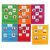 Learning Resources マグネットポケットチャート 正方形 教室/先生用オーガナイザー 様々な色 全グレード 6個セット マルチカラー モデルLER2386