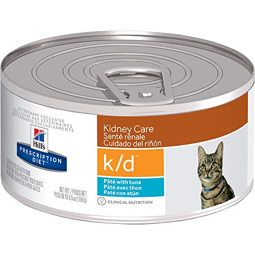 Hill's Prescription Diet k/d Kidney Care with Tuna Canned Cat Food, Veterinary Diet, 5.5 oz, 24-pack wet food