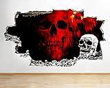 tekkdesigns q867rot Totenkopf Cool Horror Schlafzimmer