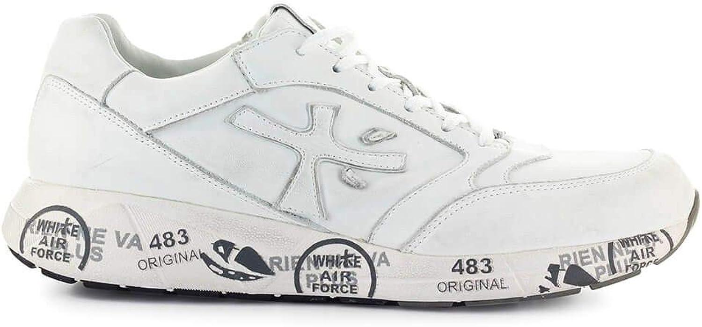 PREMIATA Herren Herren Herren ZACZAC3831 Weiss Leder Sneakers B07P6RWNLS  409963