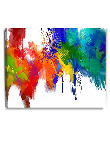 DecorArts - Colorful paint Abstract Wall Art, Giclee Prints abstract modern canvas wall art for Home Decor and Wall Decor. 30x24