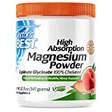 Doctor's Best High Absorption Magnesium Powder (Peach Flavored) 100% Chelated TRACCS, Not Buffered, Headaches, Muscle, Nerve, Sleep, Energy, Leg Cramps, Stress, Anxiety, Immune, Vegan, Peach Flavor