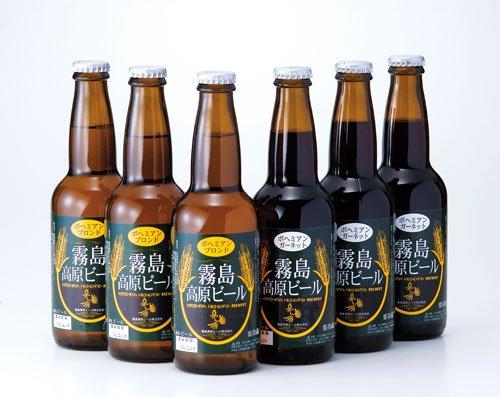 霧島高原ビール6本セット(ブロンド) クール便 鹿児島 地ビール 話題のクラフトビール お歳暮 お中元 ギフトに