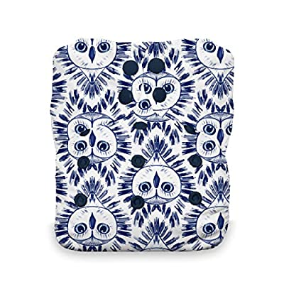 Thirsties One Size All in One Cloth Diaper, Snap Closure, Night Owl