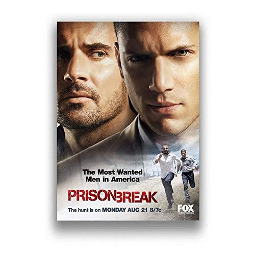h-p Prison Break Classic TV Series Lienzo Arte Pintura Al Óleo Cartel Decoración del Hogar Mural Sin Marco50X60Cm U10162