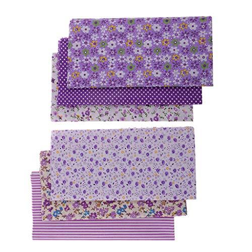 costura y manualidades Raylinedo/® 10 unidades 20 x 20/cm para patchwork Tela de algod/ón estampado a cuadrados