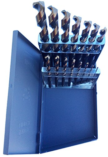 Drill America - KFD15J-SET 15 Piece Heavy Duty High Speed Steel Drill Bit Set with Black and Gold Finish, KFD Series