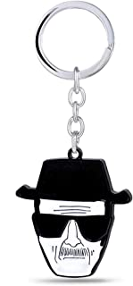 heibai VYZSD Llavero del Coche Breaking Bad Key Holder Walter White Key Chain Metal Keychain TV Colgante Charm Jewelry