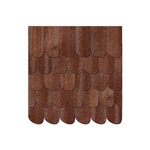 Echtholz Furnier dunkle Schindeln Schwarzwaldform rechts - Größen- und Mengenauswahl, Schindelgröße:80mm x 40mm, Pack mit:100 Stück