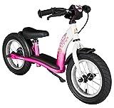BIKESTAR Kinder Laufrad Lauflernrad Kinderrad für Mädchen ab 3-4 Jahre 12 Zoll Classic Kinderlaufrad Pink