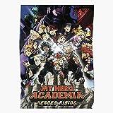 kineticards Hero Rising My Academia Japan No Movie Heroes Anime Boku   Home Decor Wall Art Print Poster