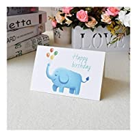 XFHA 女の子キッズ妻夫誕生日ケーキのための3Dポップアップカードバースデーカードは、カードポストカードギフトカードをご挨拶します Beautiful and practical (Color : Black)