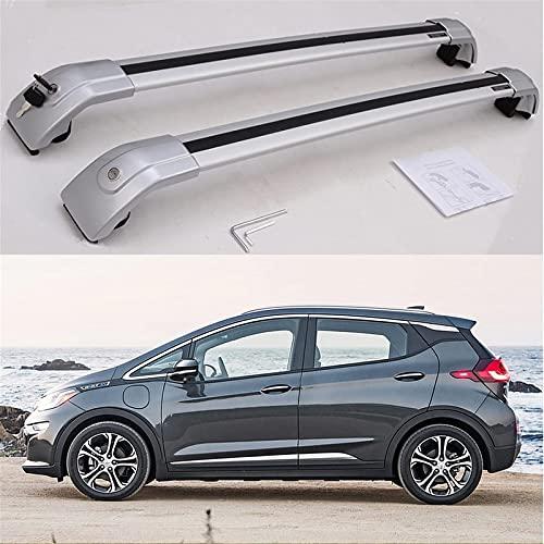 Barras Transversales Reemplazo Para Bolt EV 2016-2020 Personalizado Aleación De Aluminio Baca De Coche Portaequipajes Techo Con Cerradura Rieles Cruzados Ajustable