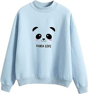 AOJIAN Women's Blouse Long Sleeve T Shirt Panda Printed Sweatshirt Tunic Tees Tank Shirts Tops