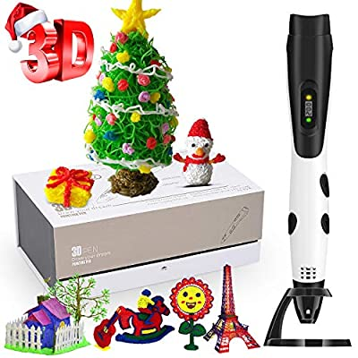 3D Pen for Kids, Intelligent 3D Pen with LCD Screen and Colors Filaments, USB Charging, Adjustable Temperature/Speed, Compatible with ABS/PLA, 3D Perfect Arts Pen Holiday Christmas Toys Gifts