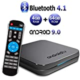 Box TV Android MECOOL KM9 Android 9.0 TV Box 4 Go RAM/64 Go ROM Amlogic S905X2 Quad Core TV Box Support 2,4 GHz/5 GHz WiFi Bluetooth 4.1 LAN Ethernet 3D 4K Mini TV Box