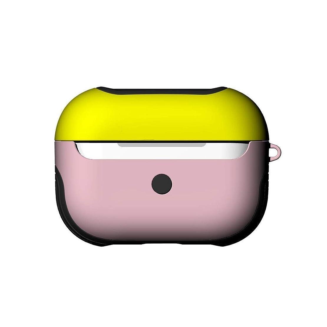 気まぐれな持ってるリンクLHSY 保護ケースAirPodsProセットワイヤレスBluetoothヘッドセットカバーAirpods3ボックスセットドロップ保護ケース (Color : Yellow+Pink)