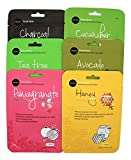 Celavi Essence Facial Mask Paper Sheet Korea Skin Care Moisturizing (Mix of 18)