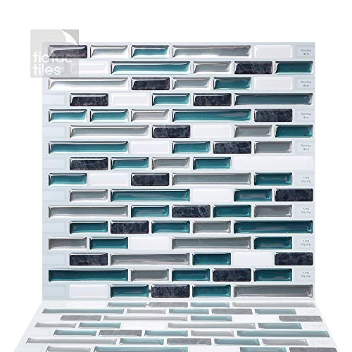 Tic Tac Tiles Pelar anti moho y enchufe de pared de azulejos pared posterior En 10 10' x 10' Como Bay