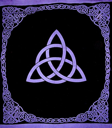India Arts Celtic Trinity Knot Tapestry Heavy Cotton Spread 96' x 86' Purple
