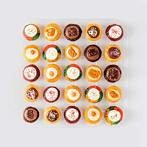 Baked by Melissa Cupcakes - OMGF Oh My Gluten Free Cupcakes - Assorted Bite-Size Wheatless Cupcakes - 6 Flavors include Cinnamon, Red Velvet, & More (25 Count)