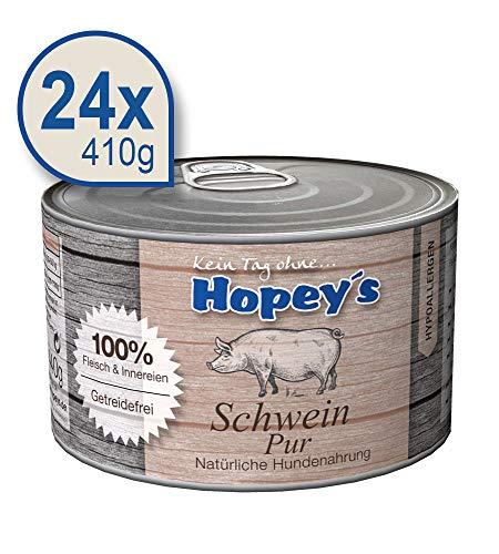 hopey 's hipoalergénica Perros Forro: 100% Carne de cerdo y valioso casquería, Single proteína, libre de cereales 24x 440g latas