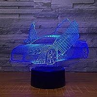 ナイトライト3Dスタイルナイトライトイリュージョンランプ7色変更子供のおもちゃ装飾ライトノートリモコン付き