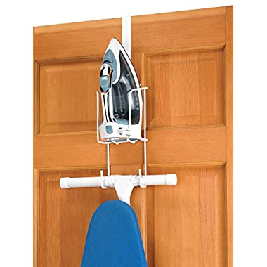 Whitmor Wire Over The Door Ironing Caddy - Iron and Ironing Board Storage Organizer