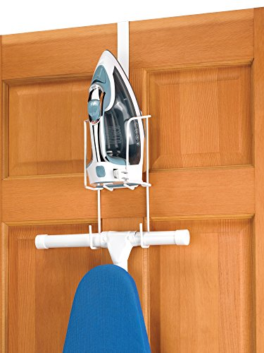 Lowest Prices! Whitmor Wire Over The Door Ironing Caddy - Iron and Ironing Board Storage Organizer