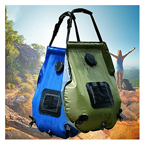 Bolsa de Ducha Hua Bolsa De Ducha Solar 20L, Bolsa De Agua De Baño Portátil para Acampar Al Aire Libre, Bolsa De Baño para Mascotas para Niños con Jardín En Casa (Color : Blue)