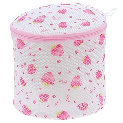 Accueil Sac de Lavage de Soutien-Gorge Sac de lessive sous-vêtements Triangle Rond imprimé Trousse de Toilette - Rose