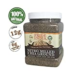 Pride Of India - Raw Black Chia Seed Meal Flour - Cold Milled - Omega-3 & Fiber Superfood, 1 Pound...