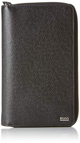 Boss Men's Signature_d Zip Trav Wallet, Black, 4 x 21 x 13 cm