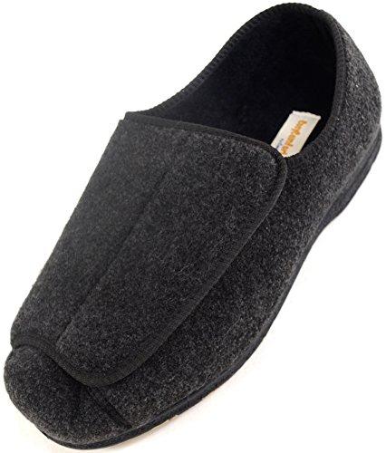 Zapatos ortopédicos para hombre con amplitud EEE, ajustables, color Gris, talla 42.5