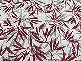 Confección Saymi Tela 100% algodón Estampado 2,45 MTS Ref. Bambú Rojo, Doble Ancho 2,80 MTS.