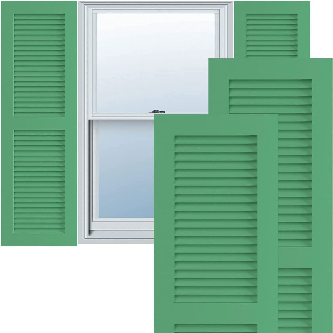 Ekena Millwork TFP101LV Credence True ! Super beauty product restock quality top! Fit Two PVC Shutters Louver Equal