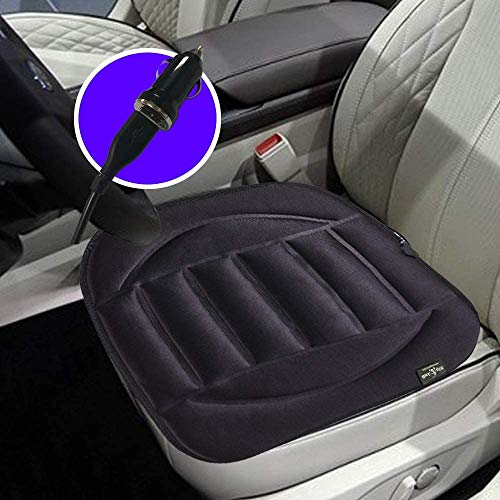 Big Ant Heated Car Seat Pad, Heated Seat Cushion, USB Chair Warmer 12V Heated Seat Cover Nonslip Separated Tab Heated Warm Chair Pad - Universal Fit for Auto Supplies Home Office(Black)