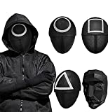 4pcs Squid Game Masked Man Mask, Halloween Cosplay Full Face Covering Masquerade Reality Survival Tv 2021 Masquerade Props Accessories
