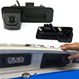 Dynavsal HD CCD Nacht Viosn Kofferraum Griff Rückfahrkamera Rückfahrkamera für VW Skoda Rapid Roomster Superb Cambi Yeti Fabia Y6 Octavia II 1Z5 A1 (No. LS8012 gekerbte Schnittstelle)