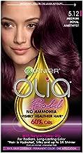 Garnier Olia Bold Ammonia Free Permanent Hair Color (Packaging May Vary), 5.12 Medium Royal Amethyst, Purple Hair Dye, Pack of 1