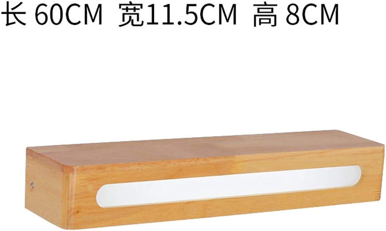 Firsthgus Einfache Nordic Treppenhaus Gang Holz Schlafzimmer Nachtwandleuchte Led Badezimmerspiegelfrontlicht, B Groes Weies Licht