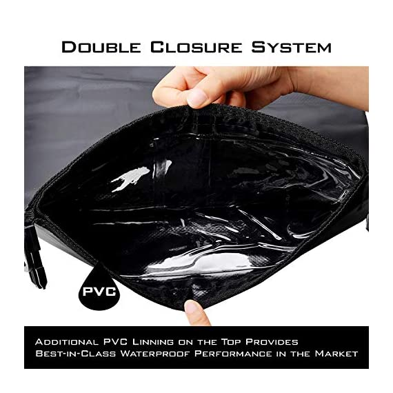 KastKing Dry Bags, 100% Waterproof Storage Bags, Military Grade Construction for Swimming, Kayaking, Boating, Hiking… 6 Innovative Transparent Window Design: You will love the clear see-through window panel that allows you to see what gear is inside your dry bag without unpacking. Double Layer Gives Extra Security: Tough, durable 100% waterproof 500D PVC material, fusion welded seams, removable adjustable shoulder carry strap make it a great compression dry sack. Unique water-tight DOUBLE overlap roll top provides the best-in-class waterproof performance. Use a versatile KastKing Dry Bag for Kayaking, Beach, Rafting, Boating, Hiking, Camping and Fishing. Never worry about dropping it in water or water getting in. Unique water-tight DOUBLE overlap roll top provides the best-in-class waterproof performance. Use a versatile KastKing Dry Bag for camera, or can double as a fishing tackle bag or travel bag.